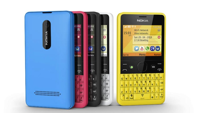 BlackBerry handsets, Nokia have launched the social-focussed Asha 210