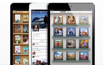 The iPad Mini will also launch with a new version of iBooks that features continues scrolling (more like a long web page)  rather than flipping through individual pages.
