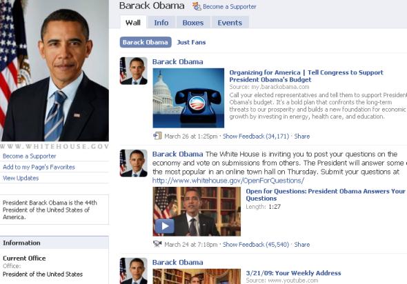 facebook obama
