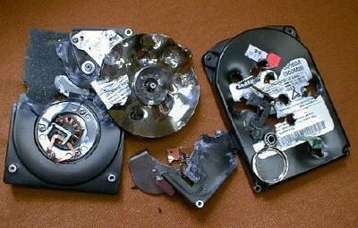 broken hard drive