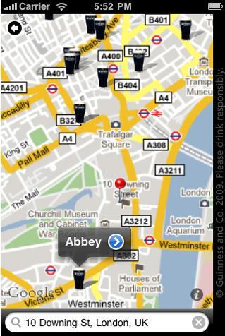 Guinness Pub Finder app