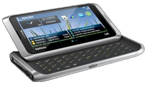 Nokia also just announced a new QWERTY slider, the E7, or E7-00 as it's otherwise known. Running  Symbian^3, it has dual 8 MP and VGA video calling cameras, as well as a 4 inch capacitive touchscreen. Business orientated, it has presentation editing apps