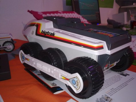 "The Bigtrak is back! If you're too lazy to pass the remote to your pal on the other couch, you can painstakingly program the Bigtrak to drive over and do it for you, storing up to 16 commands. £34.99, you can <a href=""http://www.firebox.com/product/2734"
