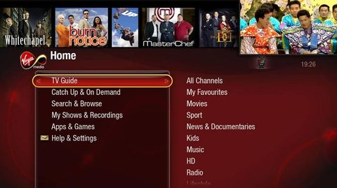 Virgin Media Tivo-powered PVR UI