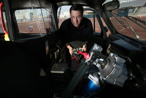 Dr James Brighton inside remote controlled cab.jpg