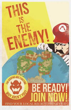 WWII Super Mario propaganda posters - Fro Design Company