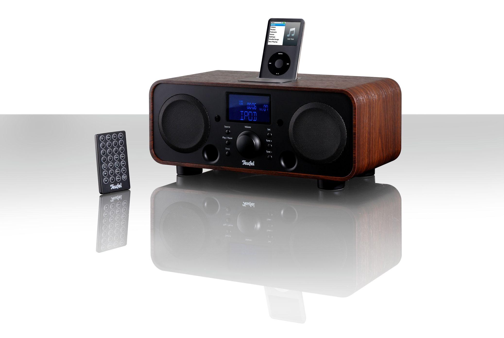 teufel ipod dock alarm clock radio tech digest. Black Bedroom Furniture Sets. Home Design Ideas