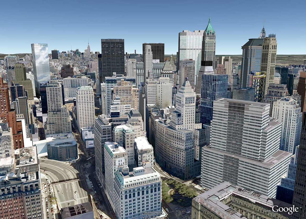 New york photorealistic google earth