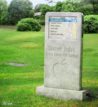 steve-jobs-grave.jpg It's not much of a secret that many newspapers and TV