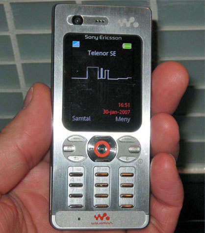 sony ericsson 39 s new super slim w880i handset images. Black Bedroom Furniture Sets. Home Design Ideas