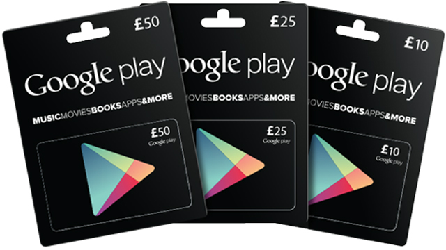 google play android app store gift cards hit the uk tech digest. Black Bedroom Furniture Sets. Home Design Ideas