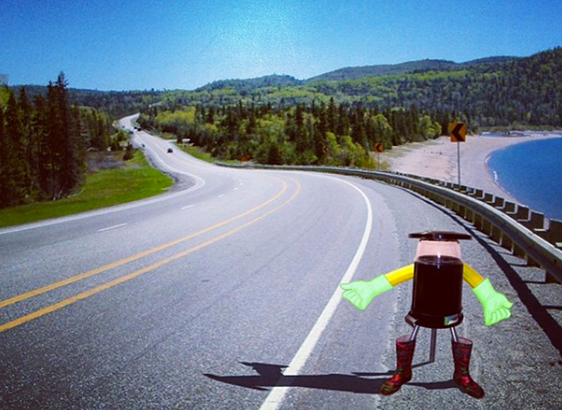 Canadians invent hitch-hiking robot. Because why not?