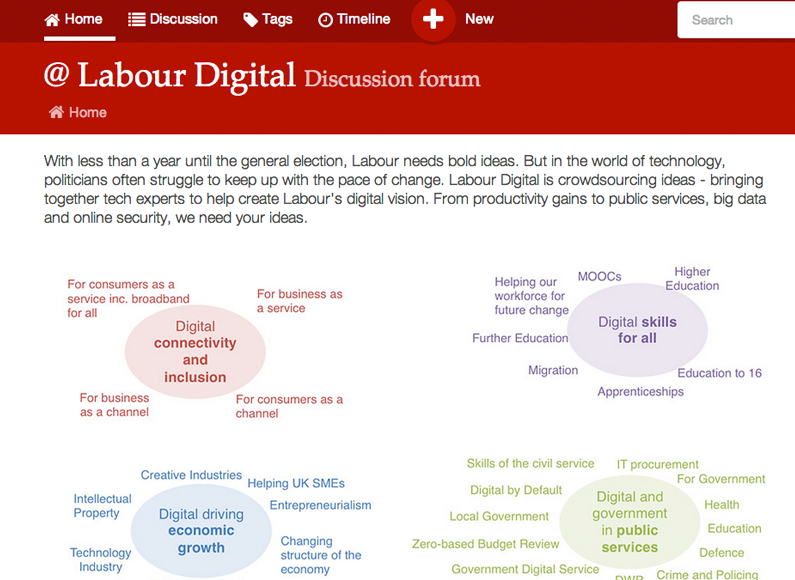 Labour Party crowdsourcing digital policy ideas
