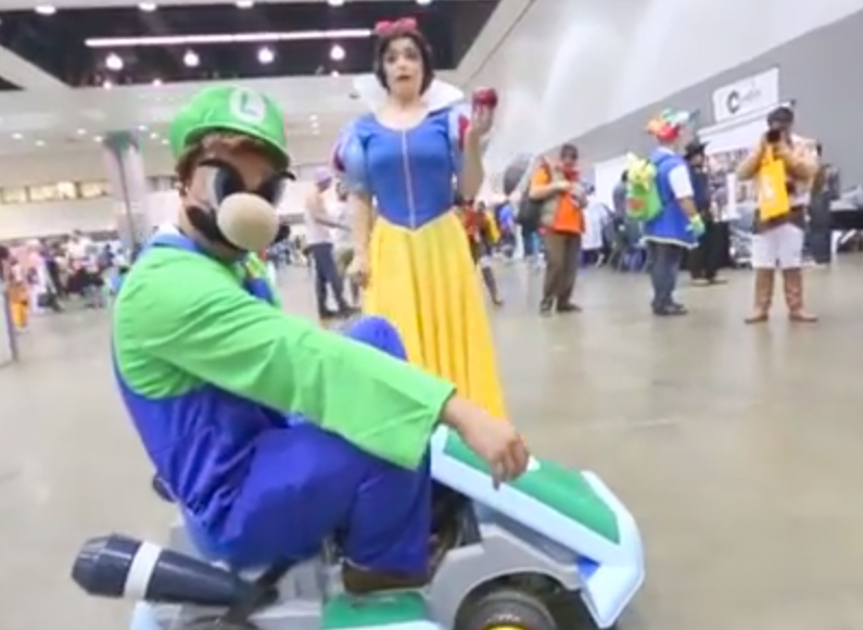 WATCH: Luigi Death Stare at the Anime Expo