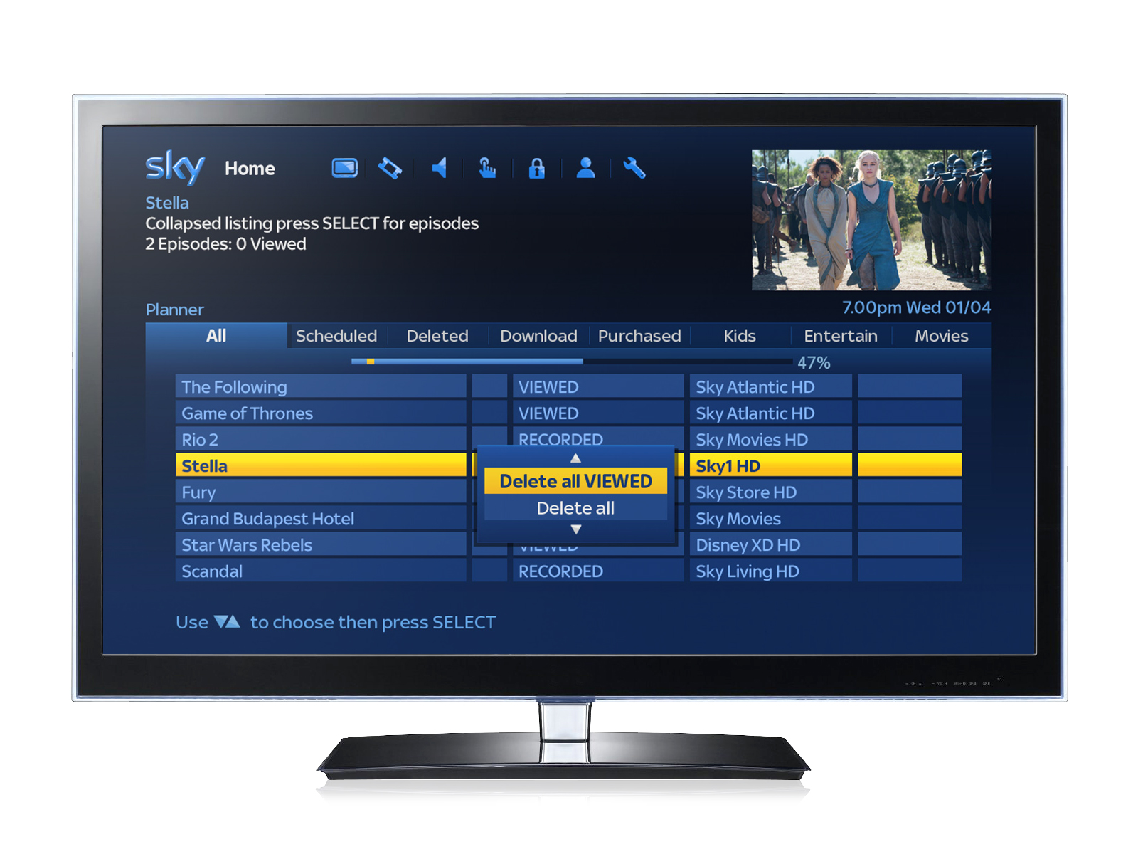 Sky announces improvements to TV Guide