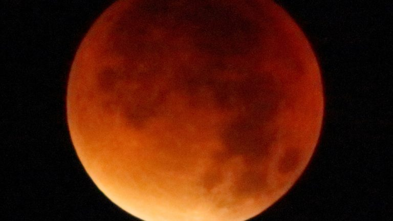 In Pictures: Lunar eclipse and the rare super blood wolf moon