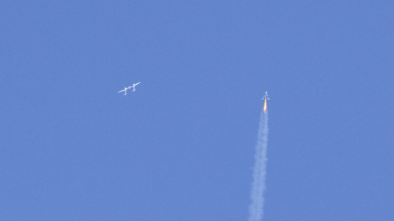 Virgin Galactic rocket plane reaches space again in test flight