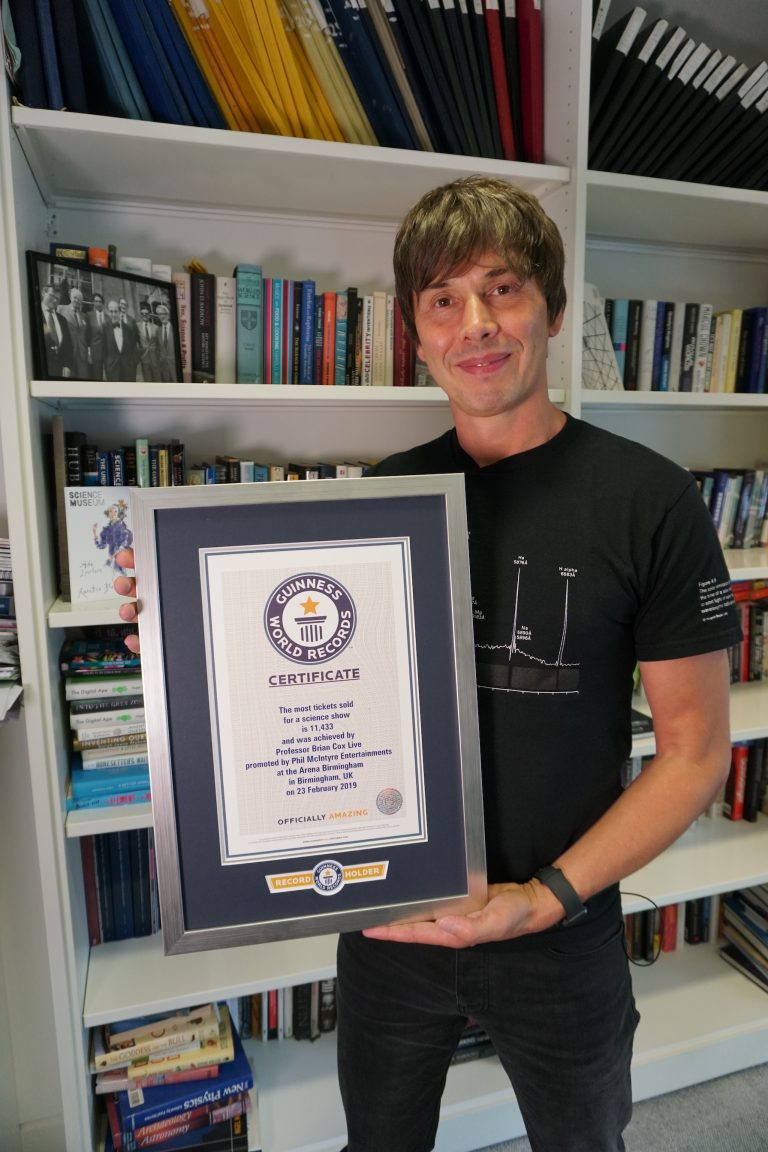 Professor Brian Cox breaks own world record for show ticket sales