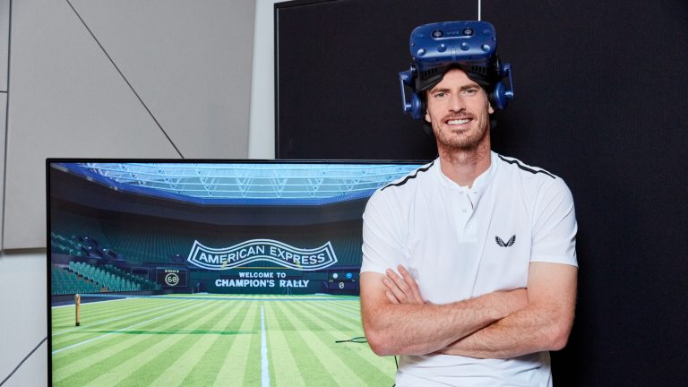 Play alongside Andy Murray at Wimbledon in new VR experience