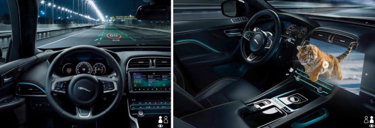 Jaguar Land Rover head up display to stream 3D movies to passengers