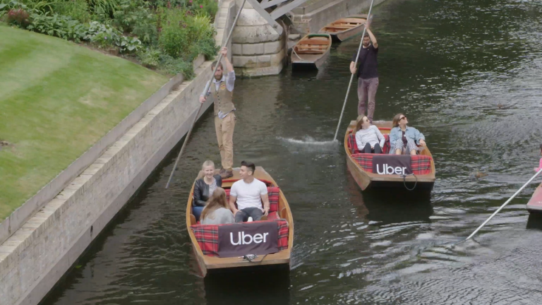 Get an Uber Boat in Cambridge over Bank Holiday weekend!